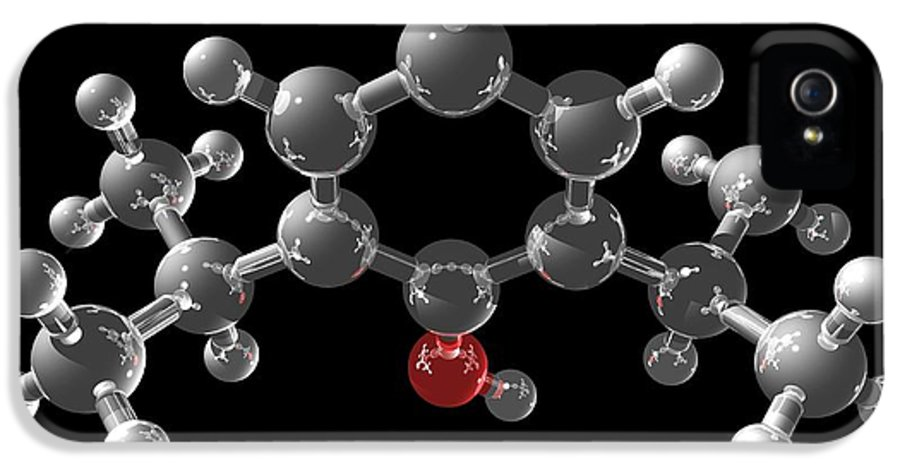 Chemical IPhone 5 / 5s Case featuring the photograph Propofol Molecule by Laguna Design