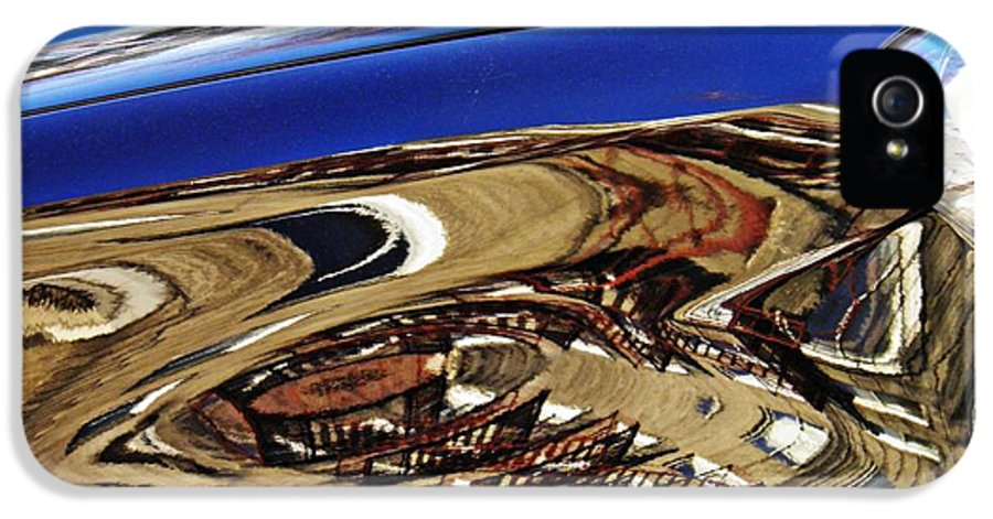 Reflection IPhone 5 / 5s Case featuring the photograph Reflection On A Parked Car 11 by Sarah Loft