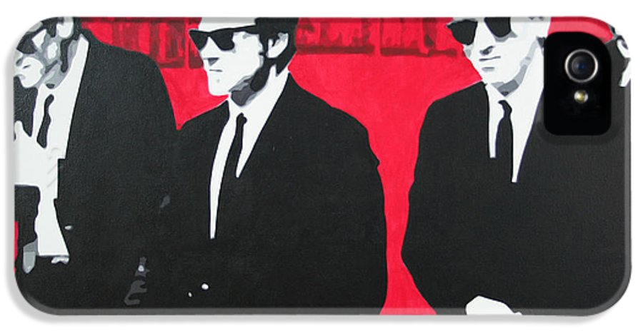 Reservoir Dogs IPhone 5 / 5s Case featuring the painting Reservoir Dogs 2013 by Luis Ludzska