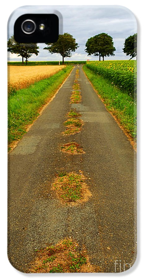 Landscape IPhone 5 / 5s Case featuring the photograph Road In Rural France by Elena Elisseeva