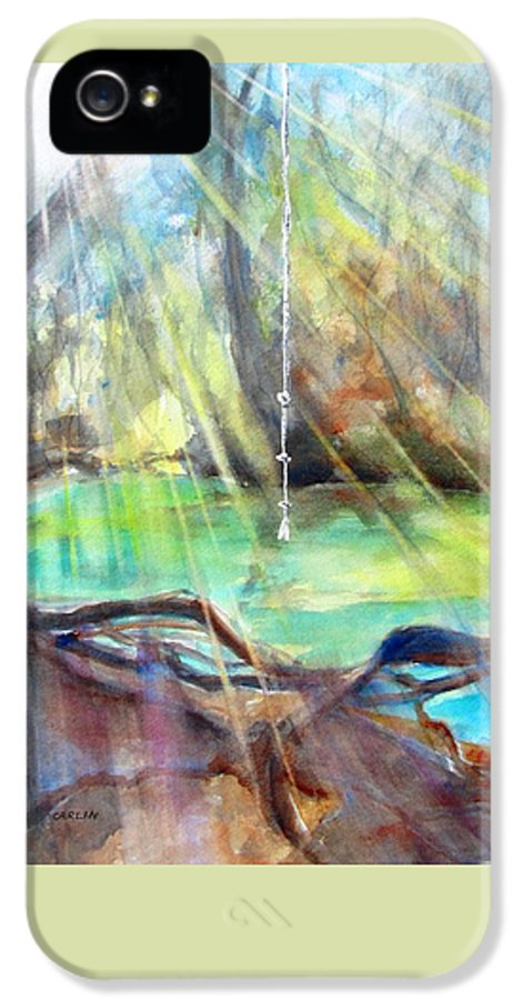 Landscape IPhone 5 / 5s Case featuring the painting Rope Swing by Carlin Blahnik