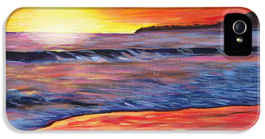 Sunset Painting IPhone 5 / 5s Case featuring the painting Sailor's Delight by Anne West