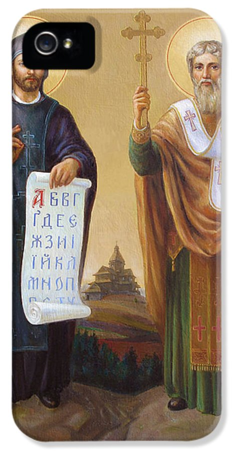 Saints IPhone 5 / 5s Case featuring the painting Saints Cyril And Methodius - Missionaries To The Slavs by Svitozar Nenyuk
