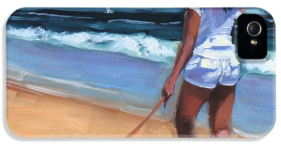 Seascape IPhone 5 / 5s Case featuring the painting Sassy Jr by Laura Lee Zanghetti