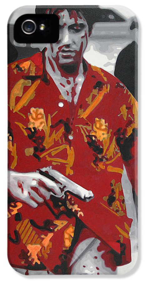 Ludzska IPhone 5 / 5s Case featuring the painting Scarface 2013 by Luis Ludzska
