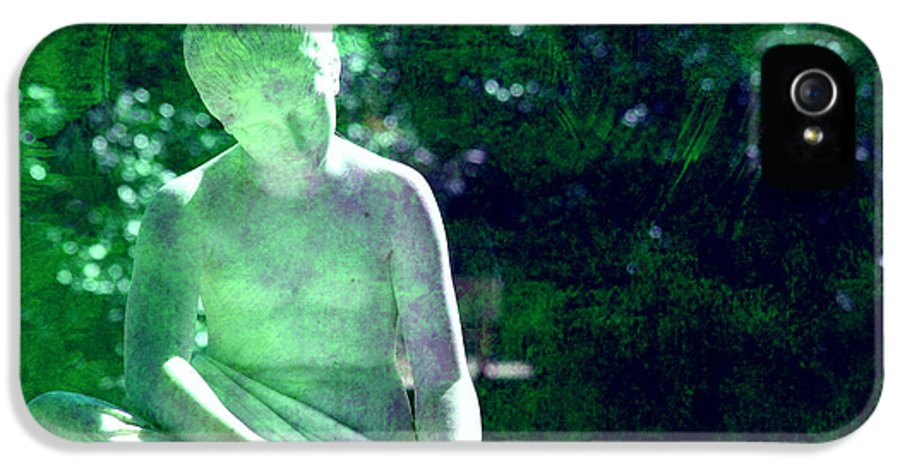 Sculpture IPhone 5 / 5s Case featuring the photograph Sculpture In A Park by Susanne Van Hulst