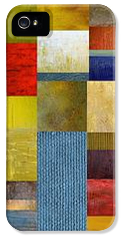 Skinny IPhone 5 / 5s Case featuring the painting Skinny Color Study Ll by Michelle Calkins