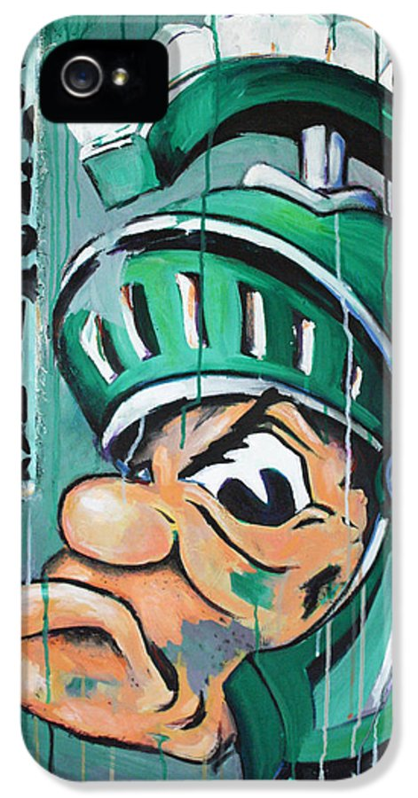 Business IPhone 5 / 5s Case featuring the painting Spartans by Julia Pappas