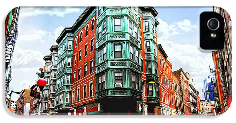 House IPhone 5 / 5s Case featuring the photograph Square In Old Boston by Elena Elisseeva