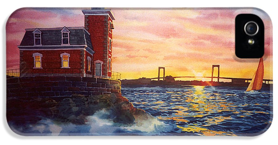 Steppingstone IPhone 5 / 5s Case featuring the painting Steppingstones Light by Marguerite Chadwick-Juner