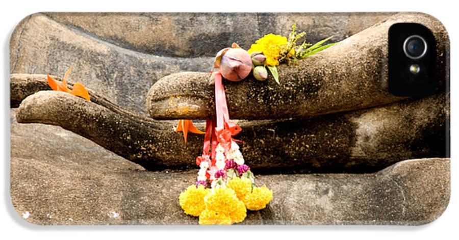 Architecture IPhone 5 / 5s Case featuring the photograph Stone Hand Of Buddha by Adrian Evans