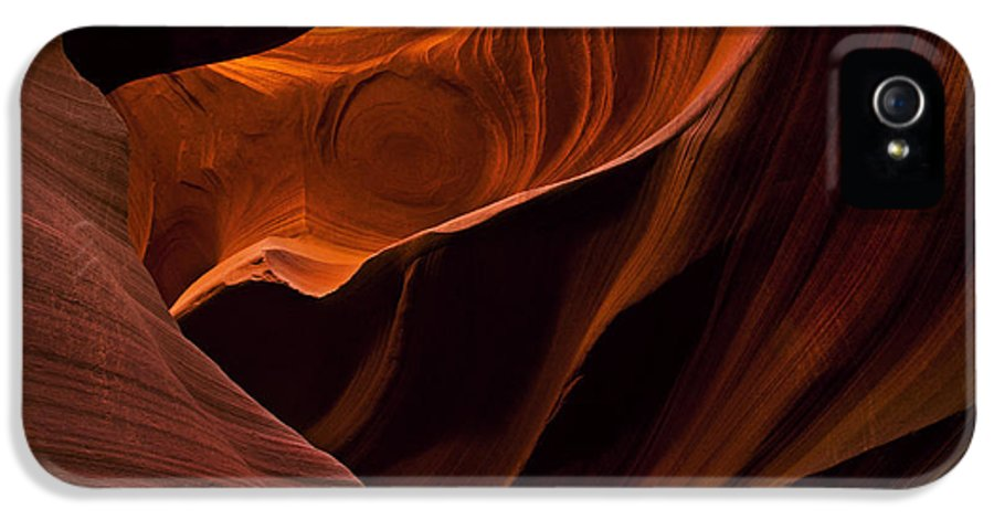 Antelope Canyon IPhone 5 / 5s Case featuring the photograph Stone Shadows by Mike Dawson
