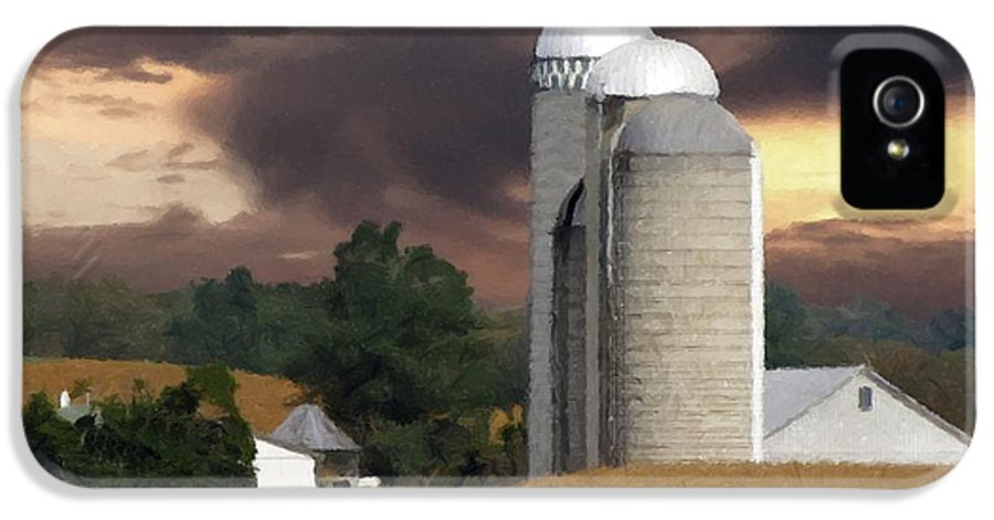 Farm IPhone 5 / 5s Case featuring the photograph Sunset On The Farm by David Dehner