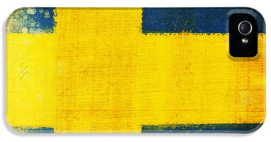 Sweden IPhone 5 / 5s Case featuring the painting Swedish Flag by Setsiri Silapasuwanchai