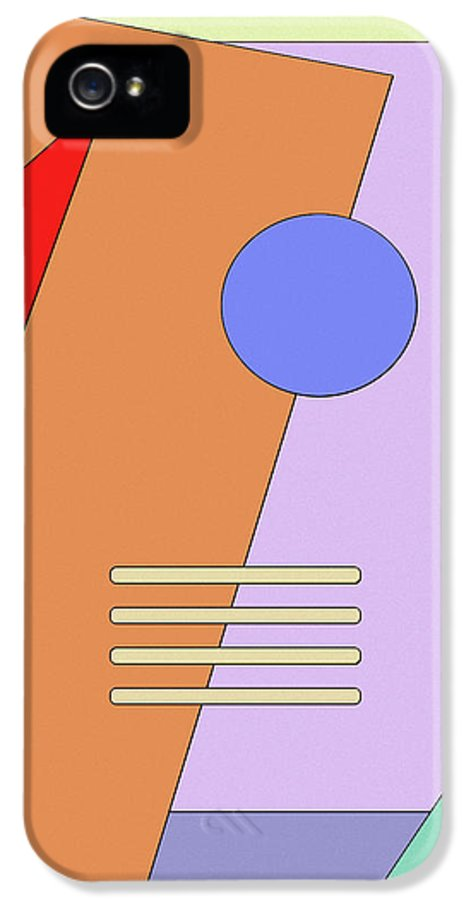Abstract IPhone 5 / 5s Case featuring the digital art Taking Shape by Richard Rizzo