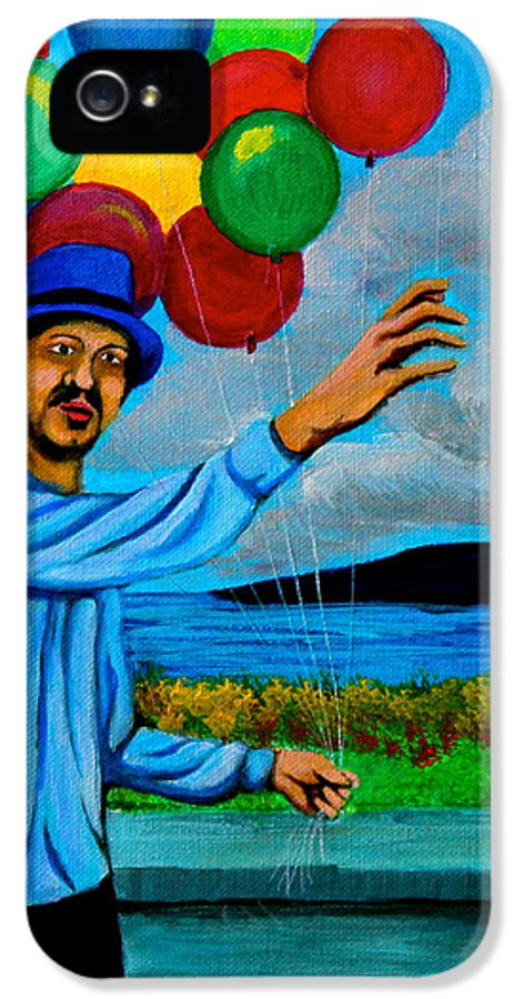 Balloon IPhone 5 / 5s Case featuring the painting The Balloon Vendor by Cyril Maza