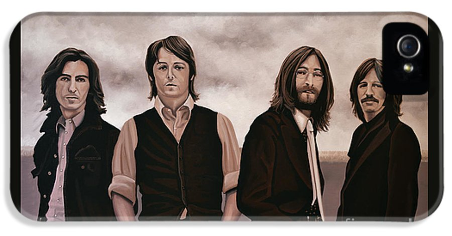 The Beatles IPhone 5 / 5s Case featuring the painting The Beatles by Paul Meijering