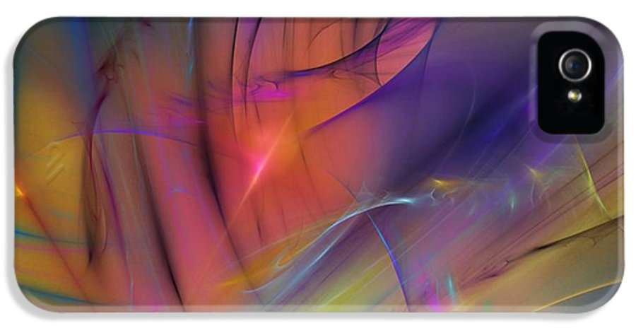 Abstract IPhone 5 / 5s Case featuring the digital art The Gloaming by David Lane