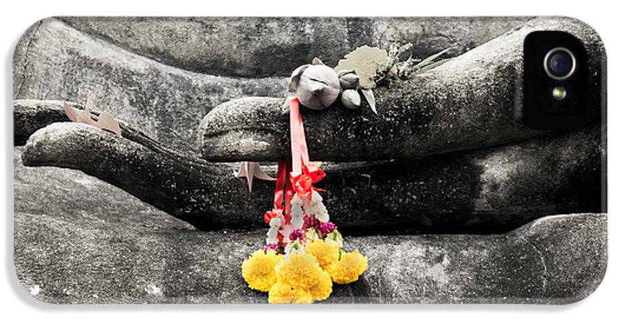 Buddha IPhone 5 / 5s Case featuring the photograph The Hand Of Buddha by Adrian Evans