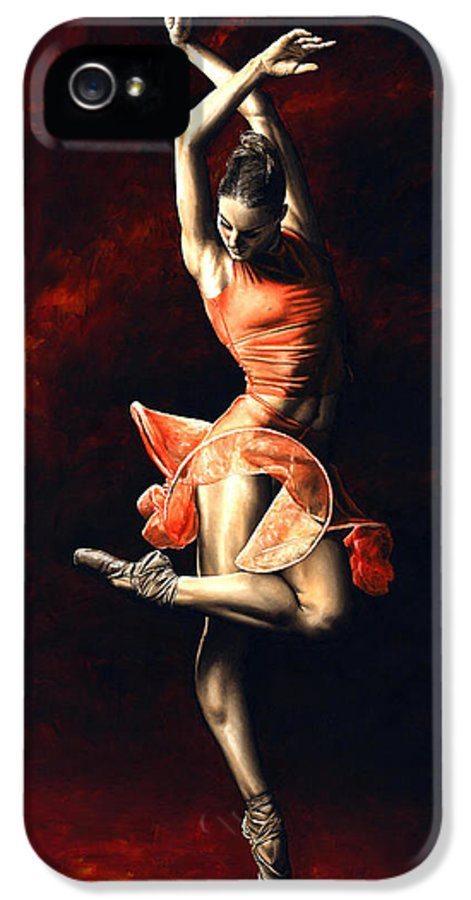 Dancer IPhone 5 / 5s Case featuring the painting The Passion Of Dance by Richard Young