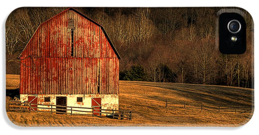 Barn IPhone 5 / 5s Case featuring the photograph The Simple Life by Lois Bryan