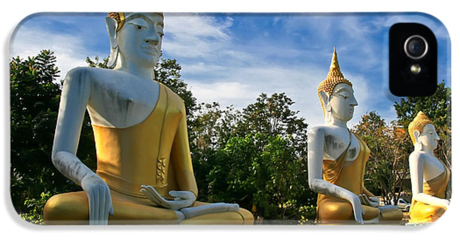 Architecture IPhone 5 / 5s Case featuring the photograph The Three Buddhas by Adrian Evans