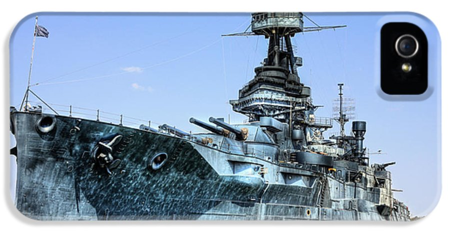 Battleship IPhone 5 / 5s Case featuring the photograph The U.s.s. Texas by JC Findley