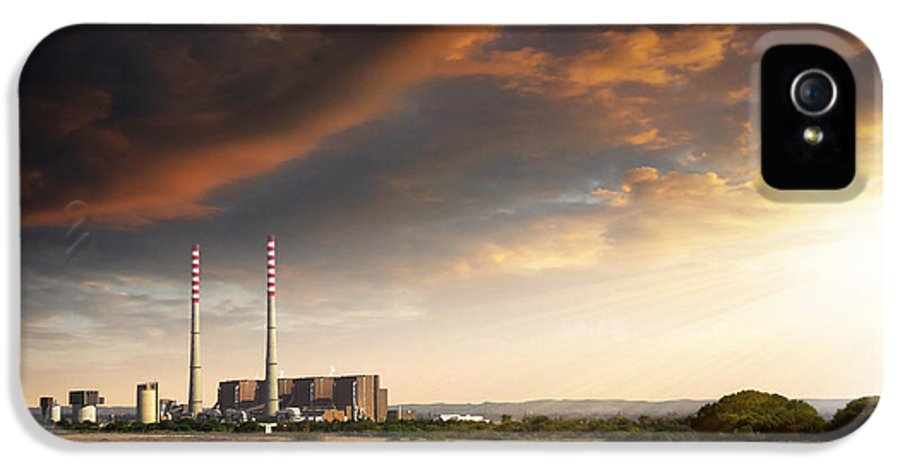 Building IPhone 5 / 5s Case featuring the photograph Thermoelectrical Plant by Carlos Caetano