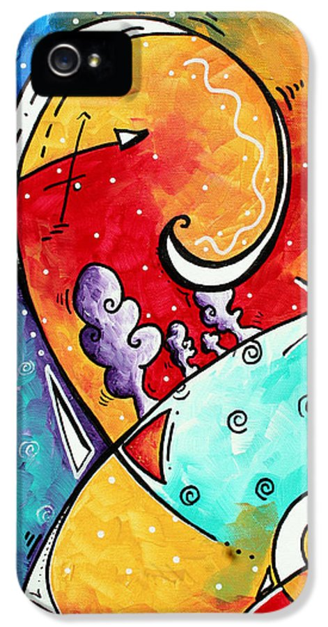 Original IPhone 5 / 5s Case featuring the painting Tickle My Fancy Original Whimsical Painting by Megan Duncanson
