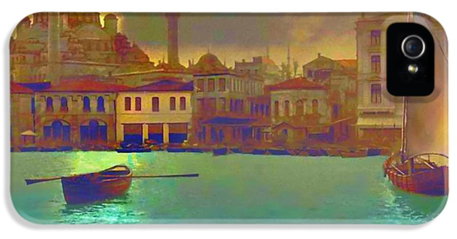 Turkey IPhone 5 / 5s Case featuring the painting Turkish Moonlight by Saiyyidah Seema Z