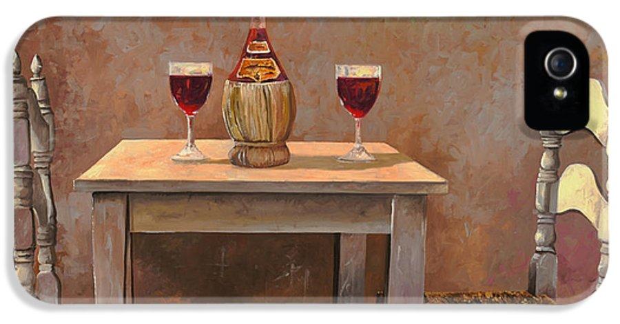 Chianti IPhone 5 / 5s Case featuring the painting un fiasco di Chianti by Guido Borelli