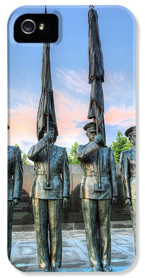 Air Force Us U.s. Usaf Memorial Arlington Va Virginia Wahington Dc Patriotic Fourth Of July 4th Airmen Airman Flag Flags IPhone 5 / 5s Case featuring the photograph Us Air Force by JC Findley