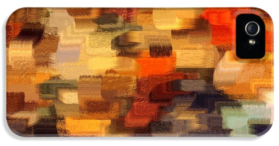 Abstract IPhone 5 / 5s Case featuring the photograph Warm Colors Abstract by Carol Groenen