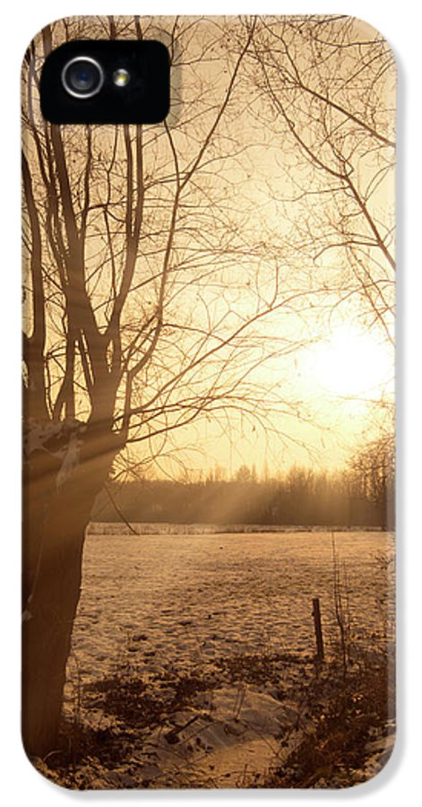 Sunset IPhone 5 / 5s Case featuring the photograph Winter Sunset by Wim Lanclus