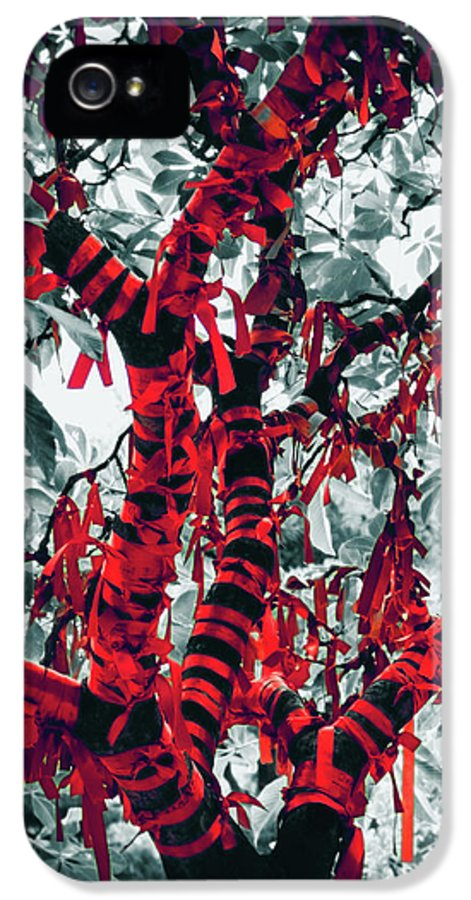 Red IPhone 5 / 5s Case featuring the photograph Wishing Tree by Wim Lanclus