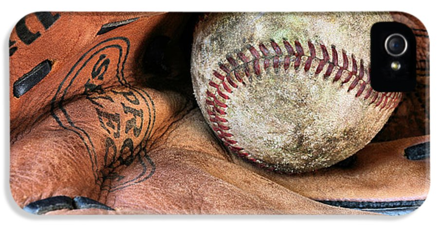 Baseball IPhone 5 / 5s Case featuring the photograph Worn In by JC Findley