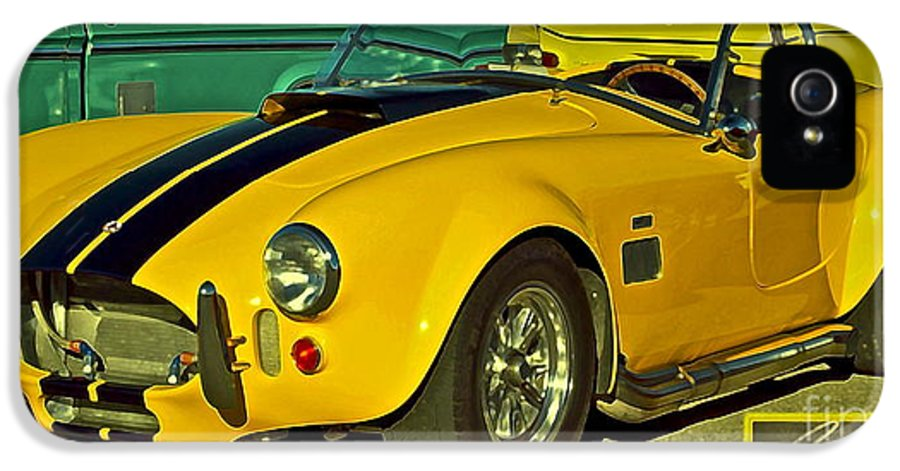 Cobra IPhone 5 / 5s Case featuring the photograph Yellow Cobra by Gwyn Newcombe
