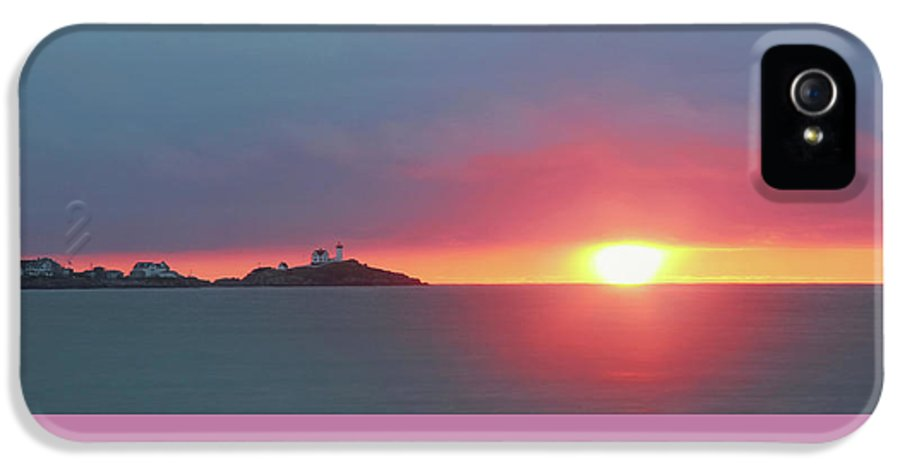 Landscape IPhone 5 / 5s Case featuring the photograph York Harbor At Dawn by Lori Deiter