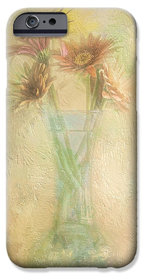 Daisies IPhone 6s Case featuring the photograph A Vase Of Gerbera Daisies In The Sun by Diane Schuster