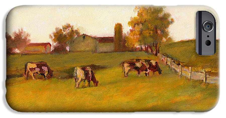 Reifsnyder IPhone 6s Case featuring the painting Cows2 by J Reifsnyder