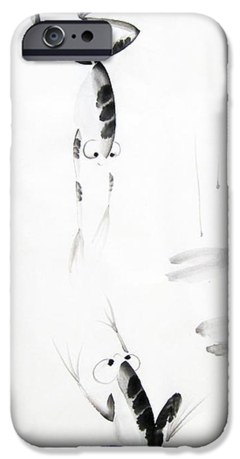Tai IPhone 6s Case featuring the painting Dance With Me by Oiyee At Oystudio