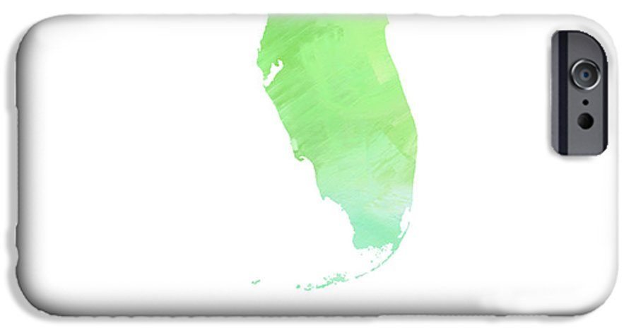 Andee Design IPhone 6s Case featuring the digital art Florida - Sunshine State - Map - State Phrase - Geology by Andee Design