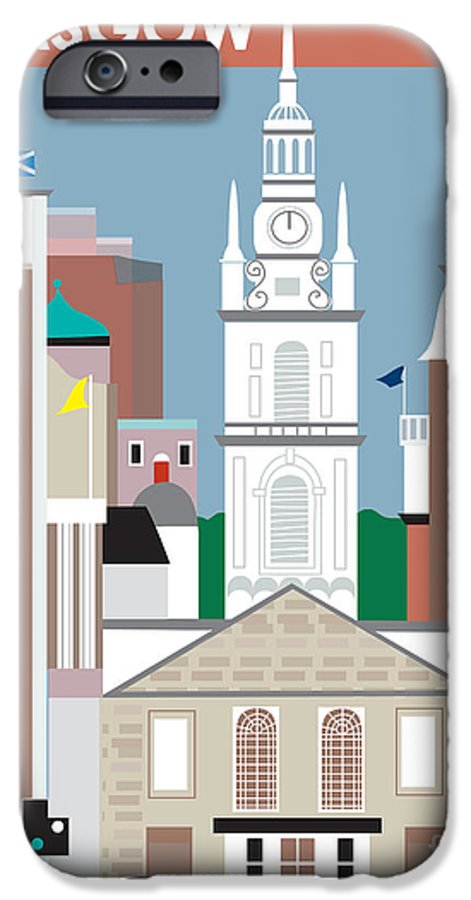 Glasgow IPhone 6s Case featuring the digital art Glasgow by Karen Young