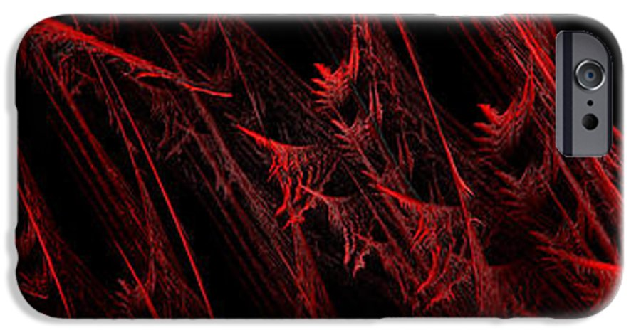 Abstract IPhone 6s Case featuring the digital art Rhapsody In Red H - Panorama - Abstract - Fractal Art by Andee Design