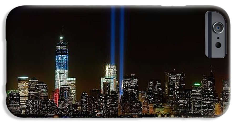9-11 IPhone 6s Case featuring the photograph Tribute In Light From Bayonne by Nick Zelinsky