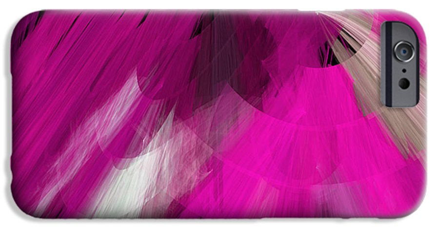 Ballerina IPhone 6s Case featuring the digital art Tutu Stage Left Abstract Fuchsia by Andee Design