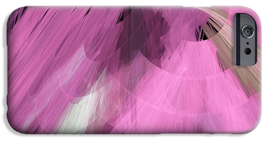 Ballerina IPhone 6s Case featuring the digital art Tutu Stage Left Abstract Pink by Andee Design