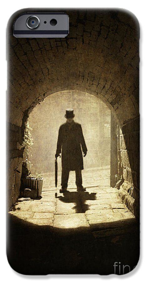 Man IPhone 6s Case featuring the photograph Victorian Man Standing Beneath An Arch by Lee Avison