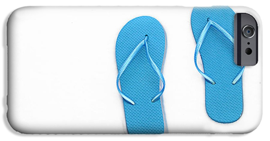Andee Design Flip Flops IPhone 6s Case featuring the photograph Where On Earth Is Spring - My Blue Flip Flops Are Waiting by Andee Design