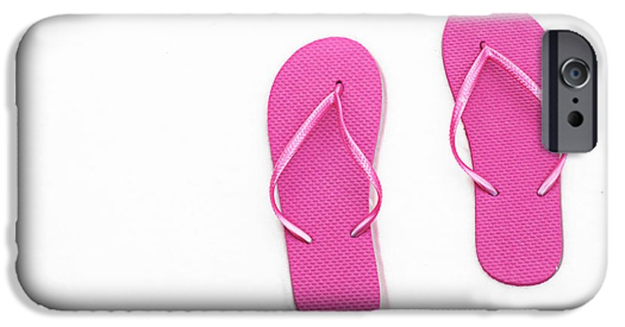 Andee Design Flip Flops IPhone 6s Case featuring the photograph Where On Earth Is Spring - My Hot Pink Flip Flops Are Waiting by Andee Design